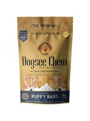 Hondensnack Dogsee Chew Puffy Bars Kaas 70 g