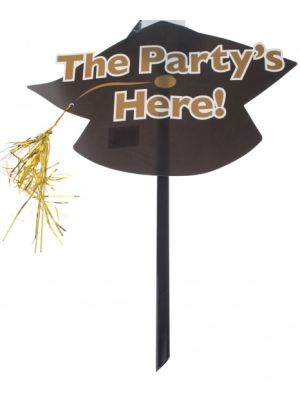 feestbord the party is here 48 x 38 cm
