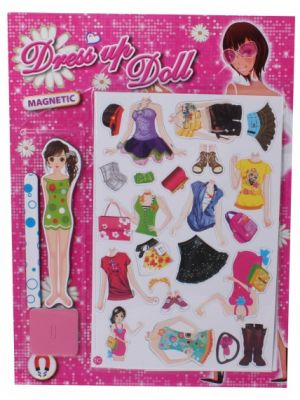 magnetische aankleedset Dress Up Doll (1C)
