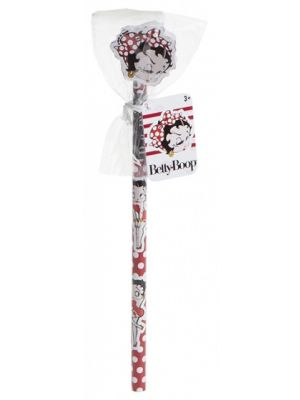 Betty Boop potlood met gum witte stipjes