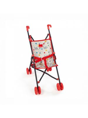 poppenbuggy Cats & Dogs 53 cm rood