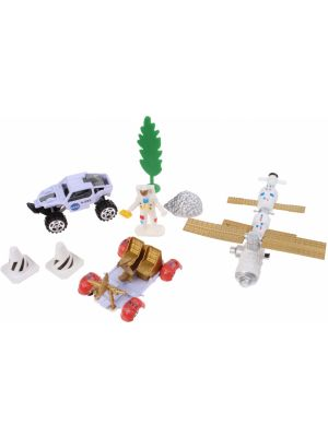 speelset Space Team Die-Cast 8-delig