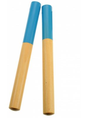 claves hout turquoise 18 cm