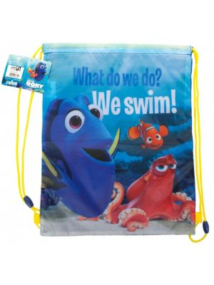 gymtas Finding Dory 5 liter blauw