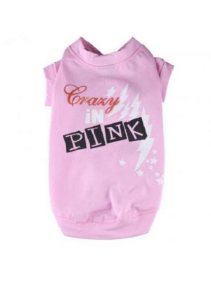 Doggy Dolly Shirt Crazy In Pink