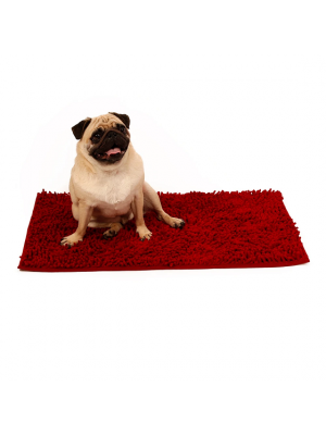 51DN Clean&Dry Honden Benchmat Donkerrood