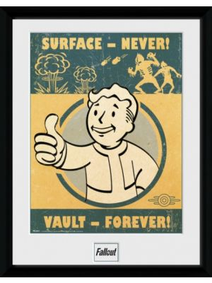 poster in lijst Fallout 4 Vault Forever 30 x 40 cm