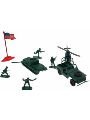 Army Soldier speelset Heli 29-delig 5 cm