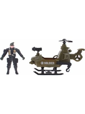 leger speelset Army Forces helicopter legergroen