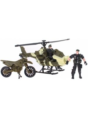 speelset Army Forces helicopter groen