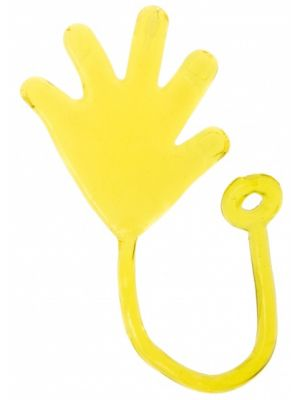 plakhand Sticky-hand 5 cm geel