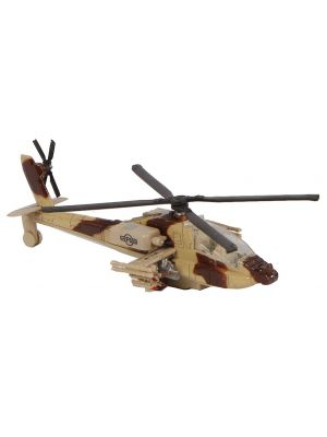 militaire helikopter diecast pull-back 1:88 bruin
