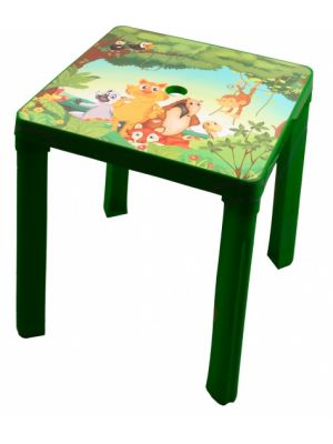 kindertafel Jungle 46 cm groen