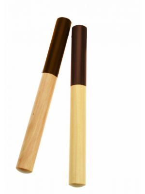 claves junior 18 cm hout donkerbruin