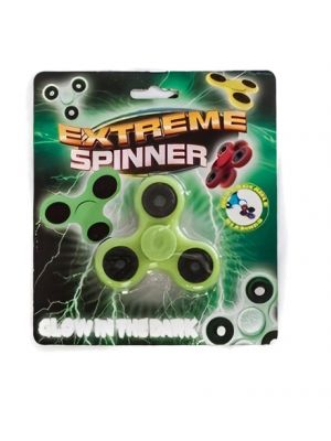fidget-spinner Extreme glow-in-the-dark 7,6 cm lime