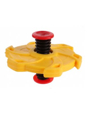 Springing Flip Spinner junior 7 cm geel (547456)