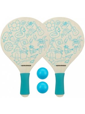 beachball set Paradise 4-delig blauw
