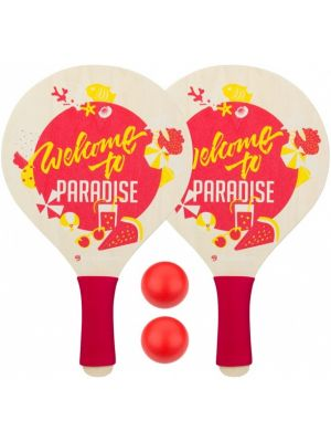 beachball set Paradise 4-delig rood/geel