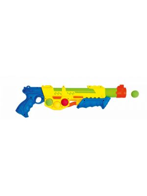 Waterpistool incl. 6 softballen geel 46 cm