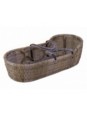 Babyreiswieg Emma in Split Grey Rotan