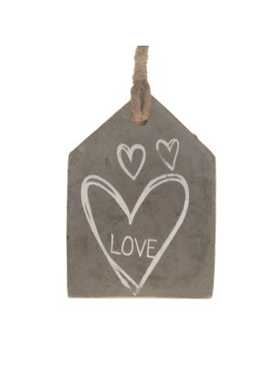 Decoratiehanger Cement 'Love'