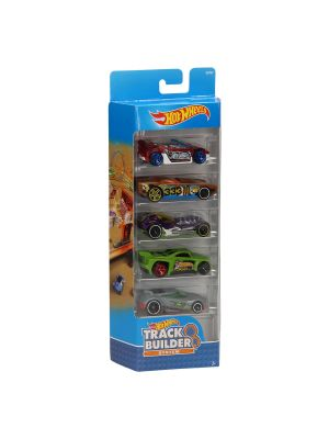 Hot Wheels Auto's - Track Builder, 5st.