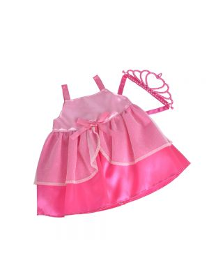 New Born Baby Prinses Outfit - Roze, 38-43 cm